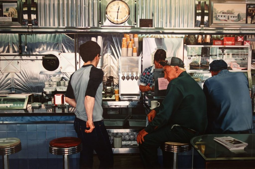 Ralph Goings - inside Collin's Diner