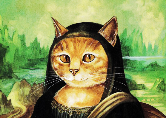 Painting of My Cat - The Cat Version of Mona Lisa