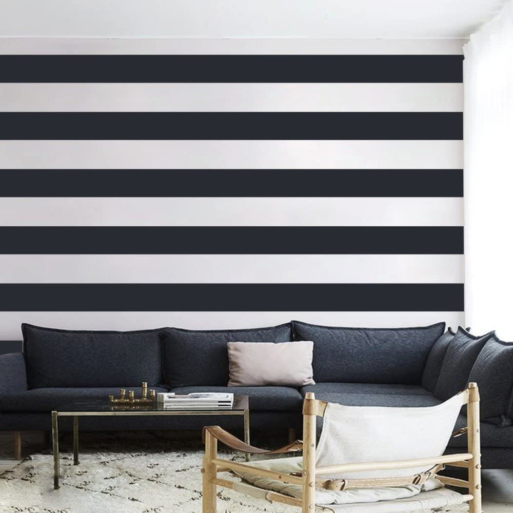 painting stripes on a wall