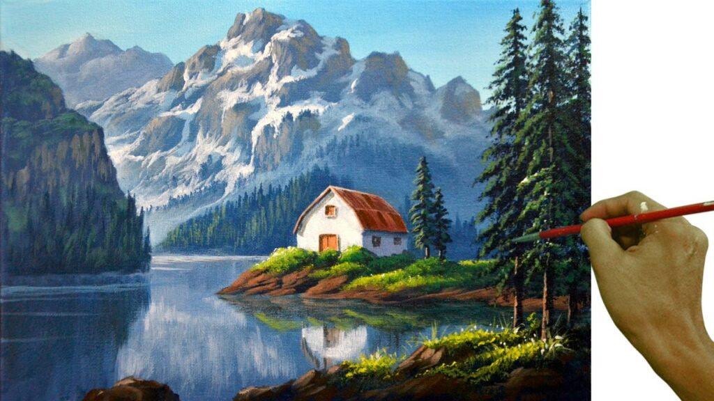 paint a landscape