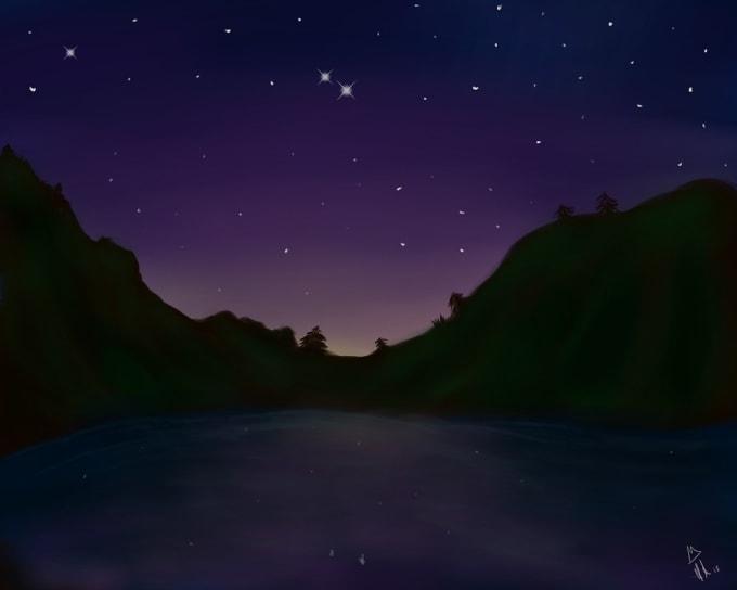 painting night scenes