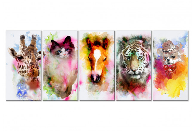 painting watercolour animals